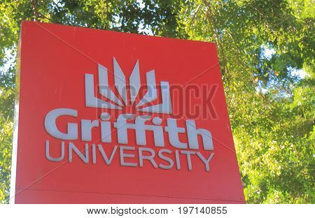 BRISBANE AUSTRALIA - JULY 8, 2017: Griffith University. Griffith University is a public research university in South East Queensland founded in 1972