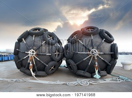 The Big Ship Protection Rubber Float Buoy.