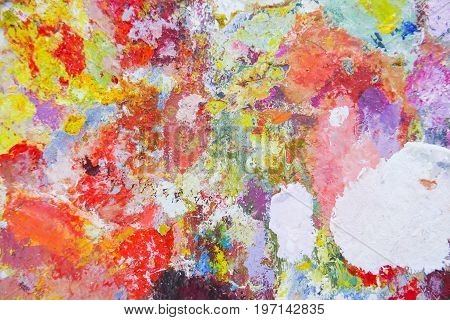 Abstract Color Palette  Acrylic Oil Paint.  Abstract Art Painting Background.