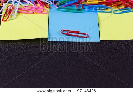 paper note for add text message with magnet clip.