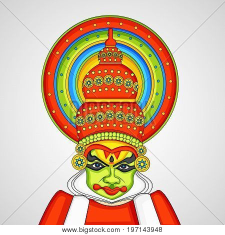 illustration of mask on the occasion of Hindu festival Onam