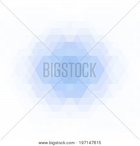 Abstract geometric background. Light blue geometric shapes. Futuristic geometric polygon pattern. Vector