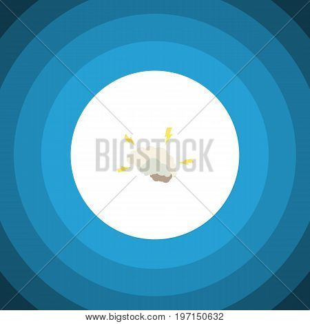 Intellect Vector Element Can Be Used For Intellect, Brainstorming, Brain Design Concept.  Isolated Brainstorming Flat Icon.