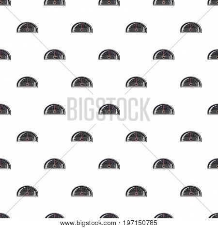 Speedometer 120 km in hour pattern seamless repeat in cartoon style vector illustration