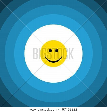 Joy Vector Element Can Be Used For Joy, Smile, Face Design Concept.  Isolated Smile Flat Icon.