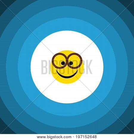 Pleasant Vector Element Can Be Used For Pleasant, Eyeglasses, Smile Design Concept.  Isolated Eyeglasses Flat Icon.