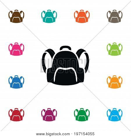 Backpack   Vector Element Can Be Used For Backpack, Bag, Sack Design Concept.  Isolated Satchel Icon.