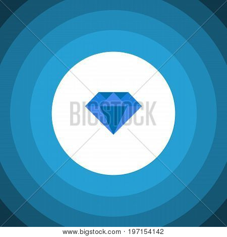 Carat Vector Element Can Be Used For Carat, Diamond, Gemstone Design Concept.  Isolated Gemstone Flat Icon.