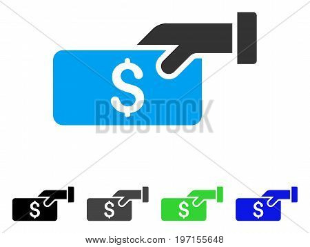 Pay flat vector pictogram. Colored pay gray, black, blue, green icon versions. Flat icon style for application design.