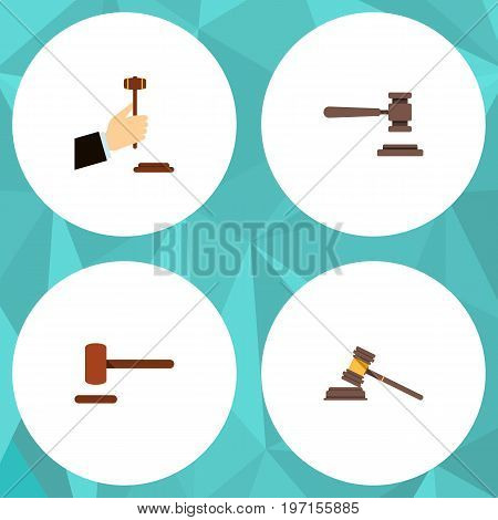 Flat Icon Lawyer Set Of Law, Legal, Defense And Other Vector Objects