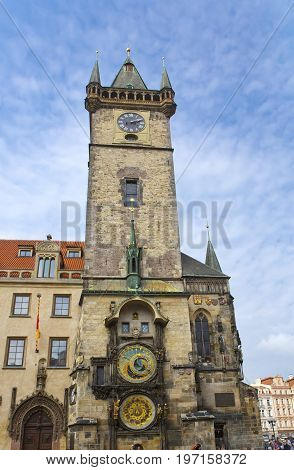 Orloj Historical medieval astronomical clock Old Town Hall Prague Czech Republic