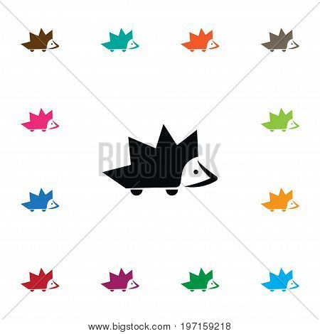 Thorny Vector Element Can Be Used For Thorny, Barbed, Hedgehog Design Concept.  Isolated Barbed Icon.