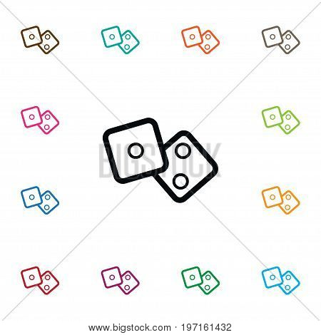Number  Vector Element Can Be Used For Number, Dice, Cube Design Concept.  Isolated Cube Icon.