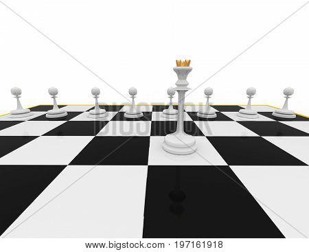 chess concept . render.   . 3d rendered illustration