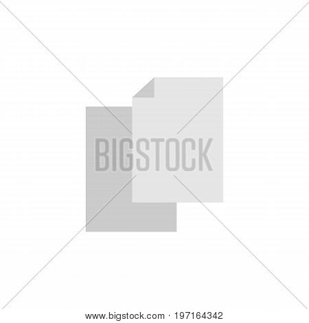 Sheets Vector Element Can Be Used For Blank, Sheet, File Design Concept.  Isolated Blank Flat Icon.