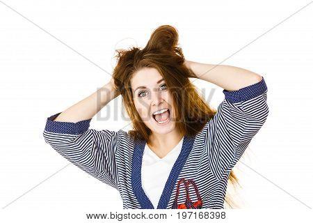 Woman Having Shocked Amazed Face Expression