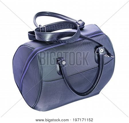 Blue Purse Isolated