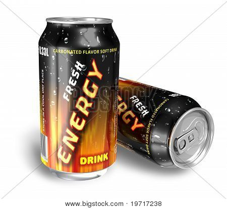 Energy drinks in Metalldosen
