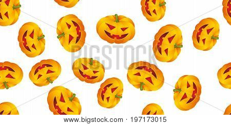 Seamless pattern with Halloween pumpkins. Vector illustration.