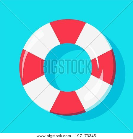 Top view of Swim Tube on water For Summer Icon Background Design. Vector illustration