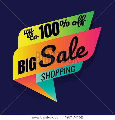 Super Sale this weekend special offer banner up to 100% off. Vector illustration.. price tag. SALE colorful. percent. discount. Super sale banner. Sale poster vector. sale sign discount. on blue background