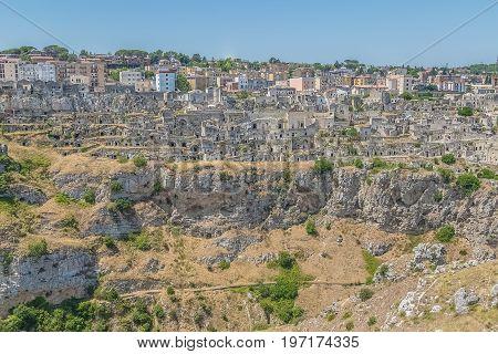 Panoramic View Of Typical Stones (sassi Di Matera) Of Matera Unesco European Capital Of Culture 2019