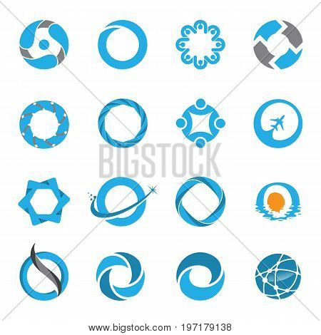 Technology orbit web rings logo design. Vector circle ring logo design. Abstract circle logo template. Round ring circle and infinity loop symbol, technology icon, circle line logo. Company logo. Vector illustration Eps.8 Eps.10