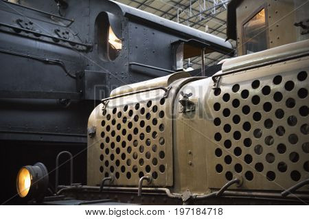 details of a steam and electric locomotives