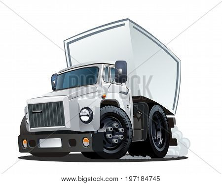 Vector Cartoon Truck. Available EPS-10 vector format separated by groups and layers for easy edit