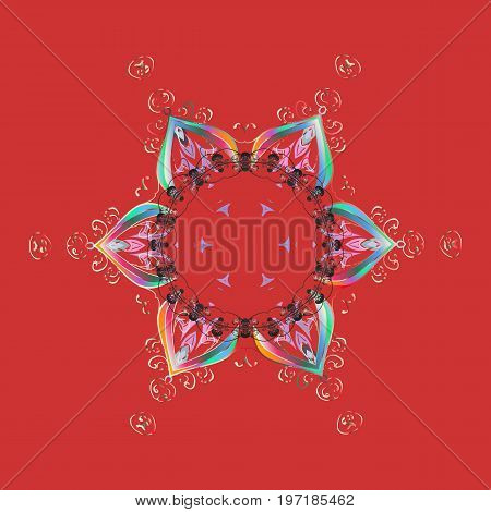 Christmas s. Vector illustration. Magic holiday abstract background with star and falling snowflakes.
