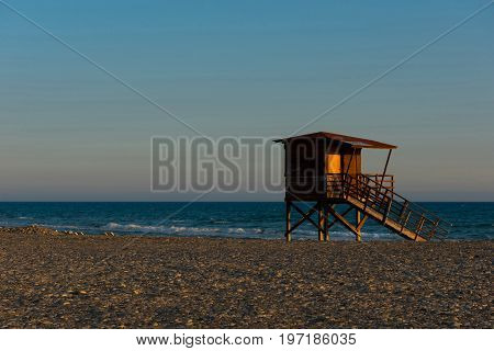 Baywatch Tower On The Beach