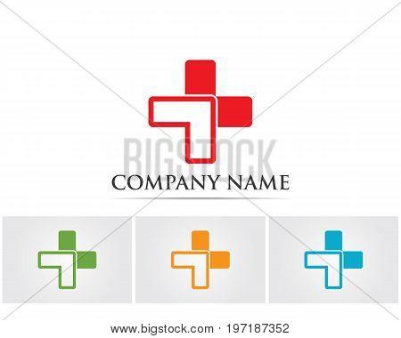 Hospital logo and symbols template vectors app