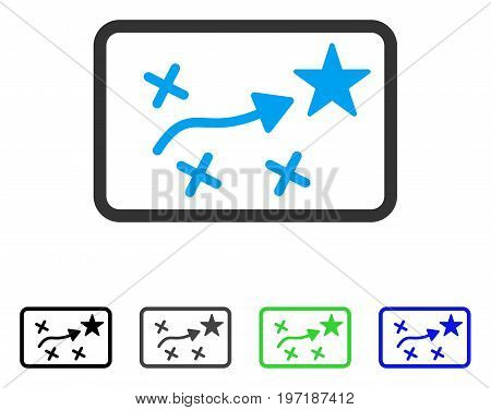 Route Plan flat vector icon. Colored route plan gray, black, blue, green icon versions. Flat icon style for web design.