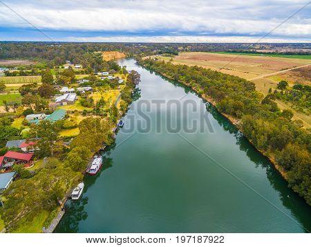Aerial view of Mitchell River Gippsland Australia