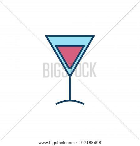 Martini glass colorful icon - vector symbol or design element on white background