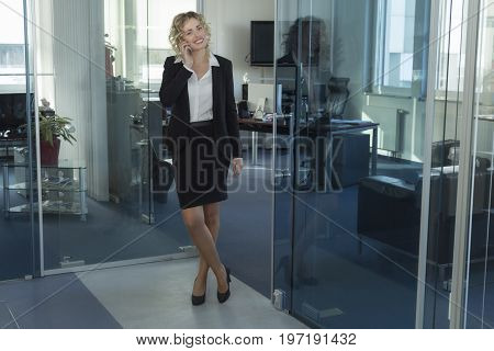 A sympathetic businesswoman working at an office