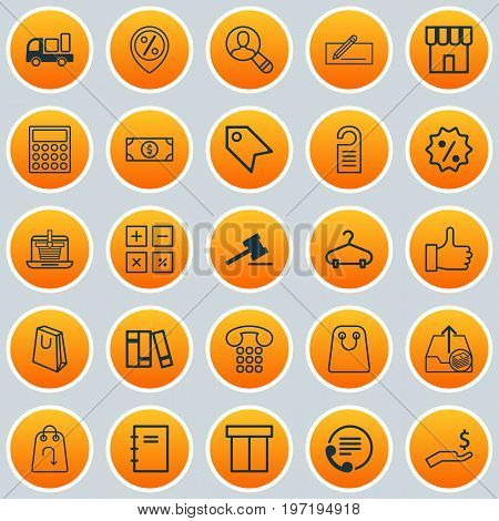 Ecommerce Icons Set. Collection Of Peg, Bookshelf, Recommended And Other Elements