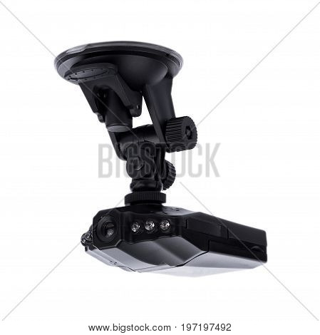 Car camera video recorder isolated on white background