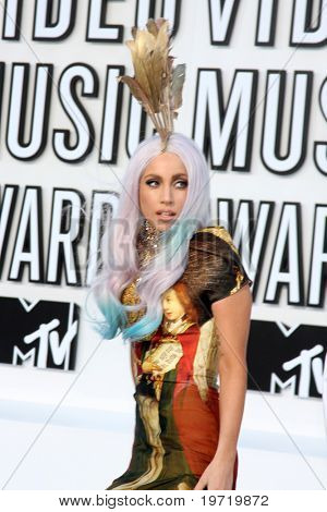 LOS ANGELES - SEP 12:  Lady Gaga arrives at the 2010 MTV Video Music Awards  at Nokia - LA Live on September 12, 2010 in Los Angeles, CA