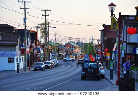 OTTAWA, CANADA - MAY 15, 2012: The Chinatown in somerset street in downtown Ottawa, Ontario, Canada.