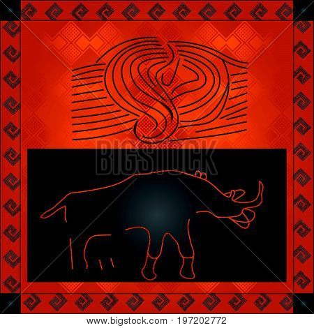 African Cultural Ornaments 205.eps