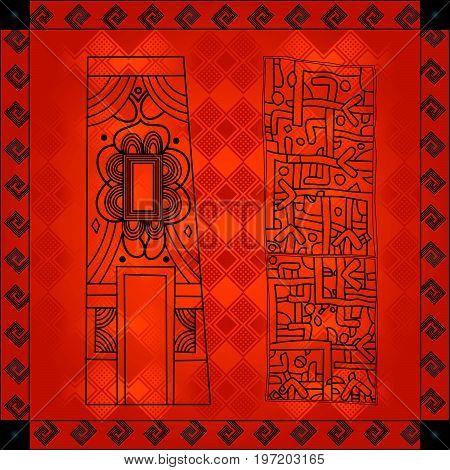 African Cultural Ornaments 216.eps