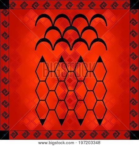 African Cultural Ornaments 221.eps