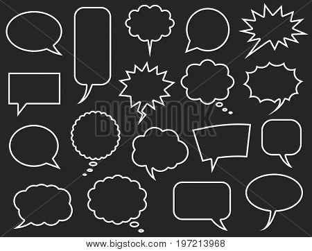 speech bubbles icon set communicate bubbles icons