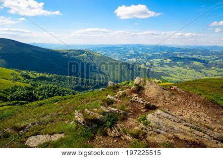 old stones in Carpathian mountains
