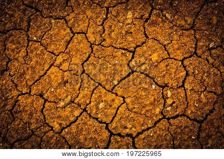cracked earth surface - abstract natural background