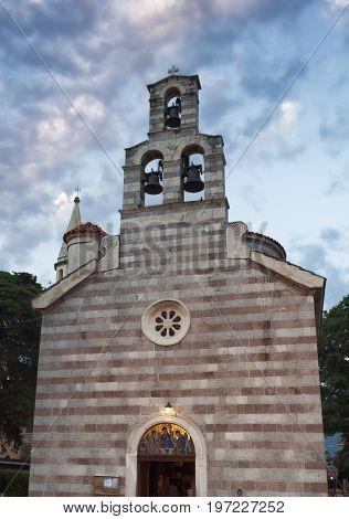 Church Of The Holy Trinity In Budva