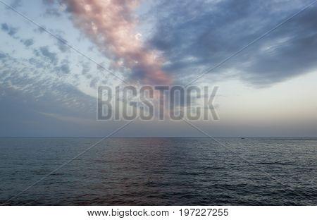 Clouds over the Adriatic Sea. The Budva Riviera