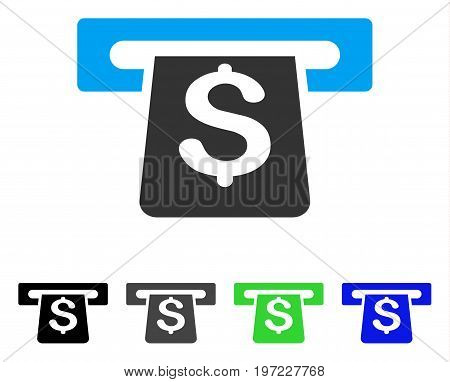 Payment Terminal flat vector pictograph. Colored payment terminal gray, black, blue, green pictogram variants. Flat icon style for web design.