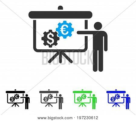 International Banking Project flat vector pictogram. Colored international banking project gray, black, blue, green icon versions. Flat icon style for graphic design.